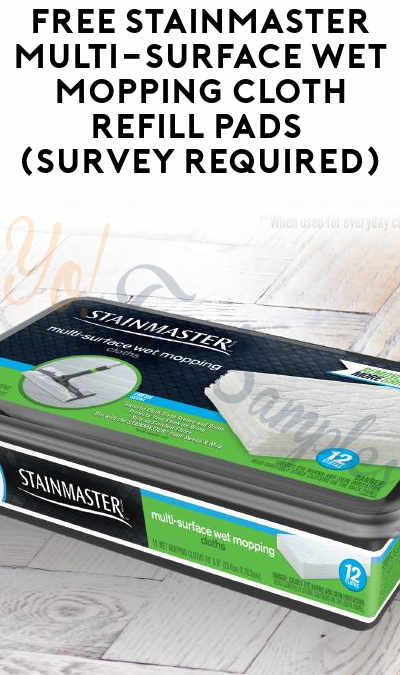 FREE STAINMASTER Multi-Surface Wet Mopping Cloth 12-Pack (Survey Required) [Verified Received By Mail]