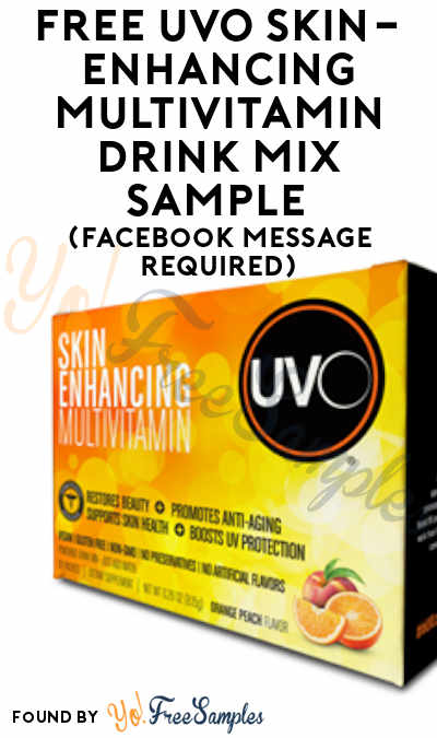 FREE UVO Skin-Enhancing Multivitamin Drink Mix Sample (Facebook Message Required)