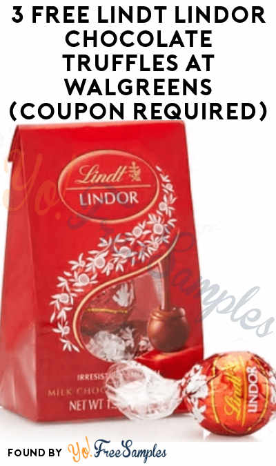 3 FREE Lindt Lindor Chocolate Truffles At Walgreens (Coupon Required)