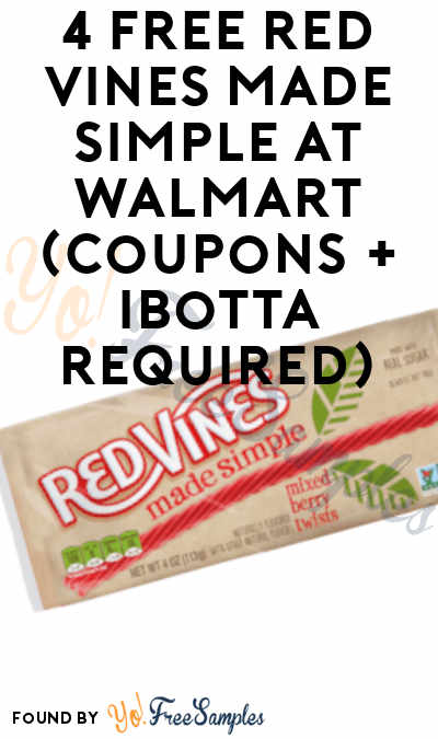 4 FREE Red Vines Made Simple At Walmart (Coupons + Ibotta Required)