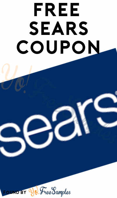 FREE $10 Off $10+ At Sears Coupon (Text Required + In-Store Only)