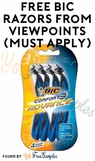 FREE BIC Razors From ViewPoints (Must Apply)