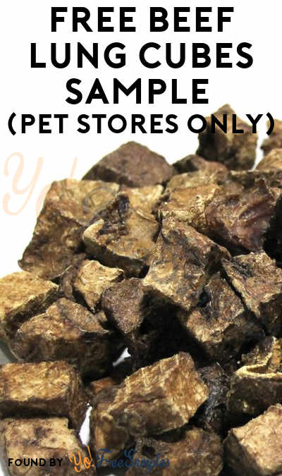 FREE Beef Lung Cubes Sample (Pet Stores Only)