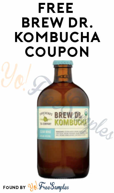 FREE Brew Dr. Kombucha Full-Size Coupon From ViewPoints (Must Apply)