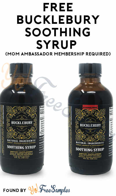 FREE Bucklebury Soothing Syrup (Mom Ambassador Membership Required)
