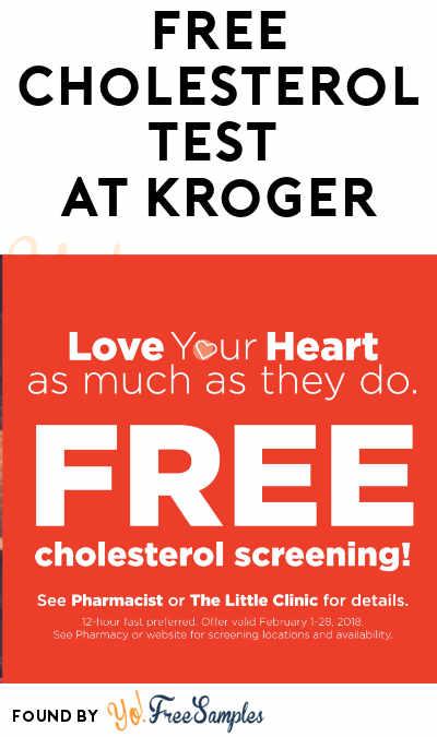 FREE Cholesterol Test At Kroger