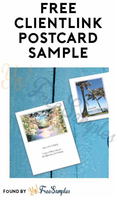 FREE Clientlink Postcard Sample