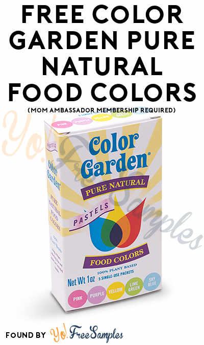 FREE Color Garden Pure Natural Food Colors (Mom Ambassador Membership Required)