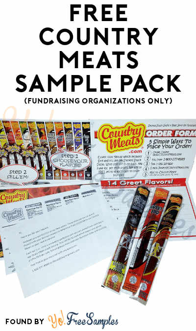 FREE Country Meats Sample Pack (Fundraising Organizations Only)