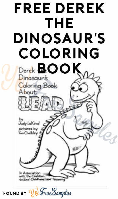 FREE Derek the Dinosaur's Coloring Book