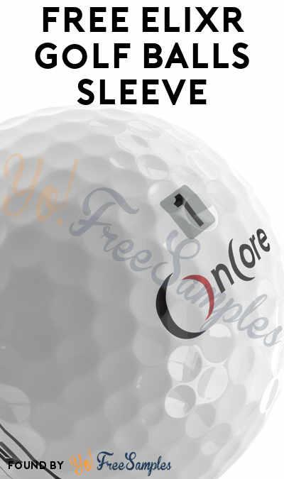 FREE ELIXR Golf Balls Sleeve