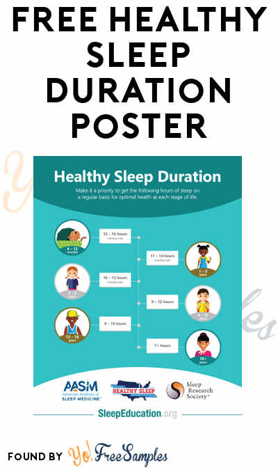 FREE Healthy Sleep Duration Poster (Email Required)