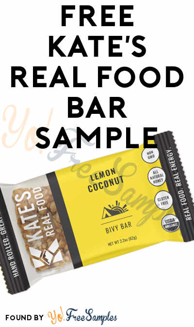 FREE Kate's Real Food Bar Sample