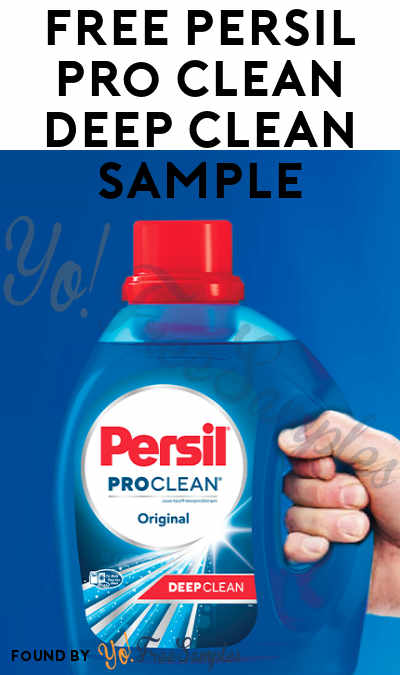 Back! FREE Persil Pro Clean Deep Clean Sample