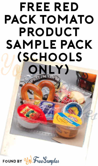 FREE Red Pack Tomato Product Sample Pack (Schools Only)