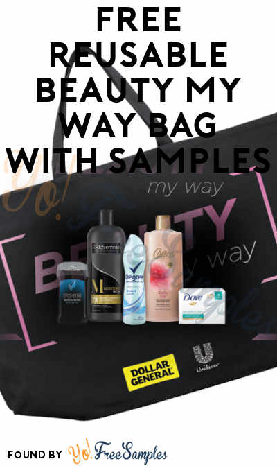 FREE Unilever Reusable Beauty My Way Bag With Samples