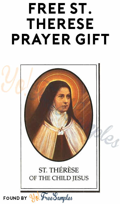 FREE St. Therese Prayer Gift