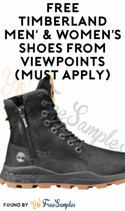 FREE Timberland Men' & Women's Shoes or Jacket From ViewPoints (Must Apply)