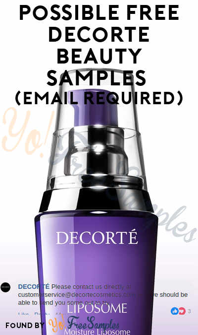 Possible FREE Decorte Beauty Samples (Email Required)