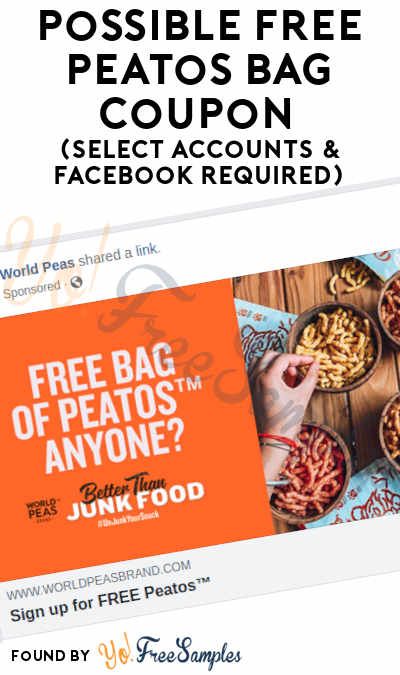 Possible FREE Peatos Bag Coupon (Select Accounts & Facebook Required)