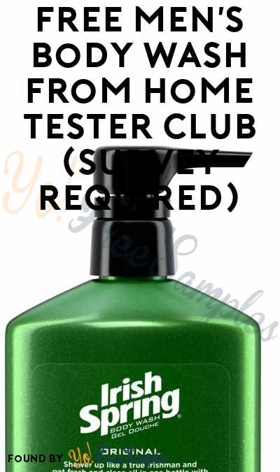 FREE Men's Body Wash From Home Tester Club (Survey Required)