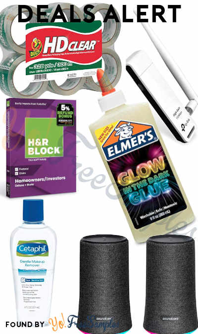 DEALS ALERT: Soundcore/Anker Speakers, HDClear Tape, TP-Link Wireless USB Adapter, Cetaphil Makeup Remover, H&R Block Tax Software, Elmer's Electrifying Glow-in-The-Dark Liquid Glue & More