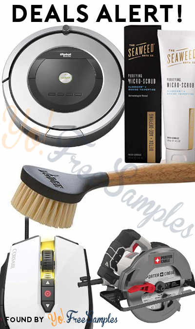 DEALS ALERT: Roomba 860, Seaweed Purifying Micro Scrub, Circular Saw, Cast Iron Scrub Brush, CORSAIR Pro Gaming Mouse & More
