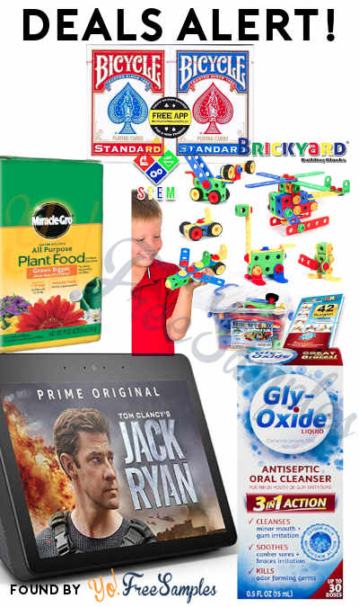 DEALS ALERT: Gly-Oxide Liquid, Echo Show, Bicycle Playing Cards, Miracle-Gro, STEM Toys Kit & More