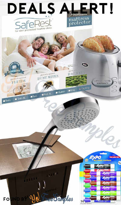 DEALS ALERT: Mattress Protector, Propane Fire Pit, Oster Toaster, Dry Erase Markers, 3-Jet Hand Shower & More