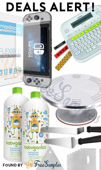 DEALS ALERT: Babyganics Foaming Soap, Cake Turntable Supplies Set, Nintendo Switch Screen Protector, Label Maker & More