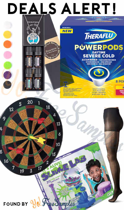 DEALS ALERT: Essential Oil Necklace Gift Set, Theraflu PowerPods, Pantyhose, Magnetic Dart Board, It's Alive Slime Lab & More