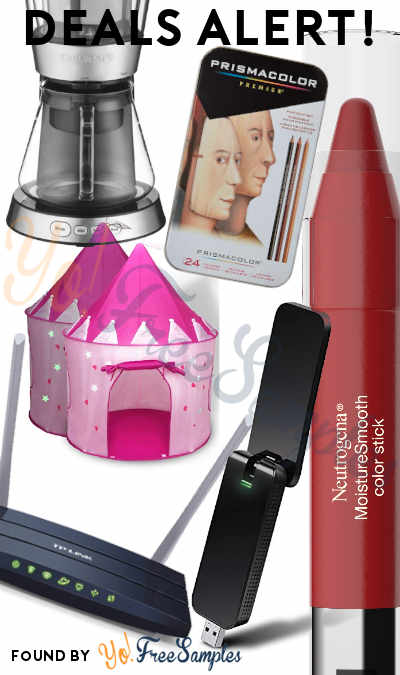 DEALS ALERT: Neutrogena Moisturesmooth Color Stick, TP-Link Router, Wi-Fi USB Stick, Princess Castle Play Tent, Colored Pencils, 7-Cup Cold-Brew Coffee Maker & More