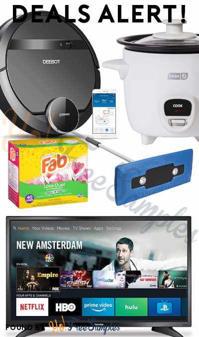 DEALS ALERT: Robot Vacuum, 32″ LED Smart TV, Rice Cooker, Snow Broom + Ice Scraper, Fab Laundry Detergent & More
