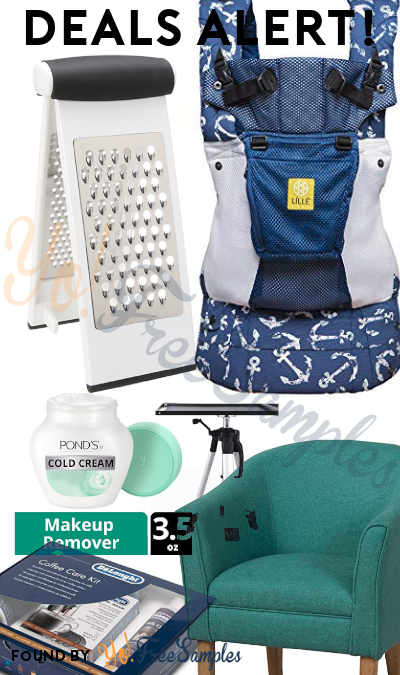 DEALS ALERT: OXO Good Grips Multi Grater, Lillebaby Ergonomic Child Carrier, Pond's Cold Cream Cleanser, Coffee Care Kit, Accent Chair, Tripod/Laptop Projector Stand & More