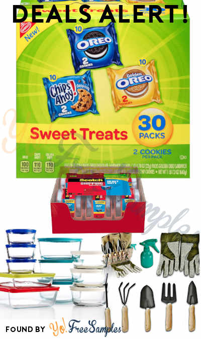 DEALS ALERT: Sweet Treats Cookie Variety Pack, Garden Tools Set, Pyrex 22-Piece Food Storage Set, Scotch Heavy Duty Shipping Tape & More