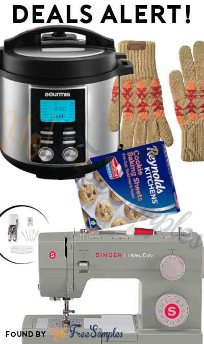 DEALS ALERT: Sewing Machine, 8-Quart Pressure Cooker, Men's Texting Gloves, Parchment Paper Sheets & More