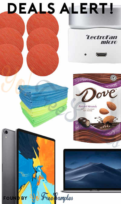 DEALS ALERT: iPad Pro, MacBook Pro, Dove Dark Chocolate Almonds, Microfiber Wipes 36-Pack, Table Place Mats 6-Pack, Sleep Sound Machine, Bella Slow Cooker & More