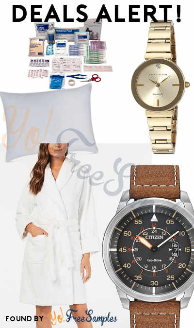 DEALS ALERT: Women's Watches, Men's Watches, Super-Soft Robe, Egyptian Cotton Down Alternative Pillow, Bulk First Aid Kit Refill & More