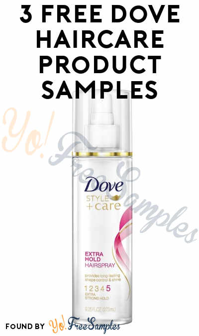 3 FREE Dove Haircare Product Samples From CrowdTap (Must Apply & Mission Required)