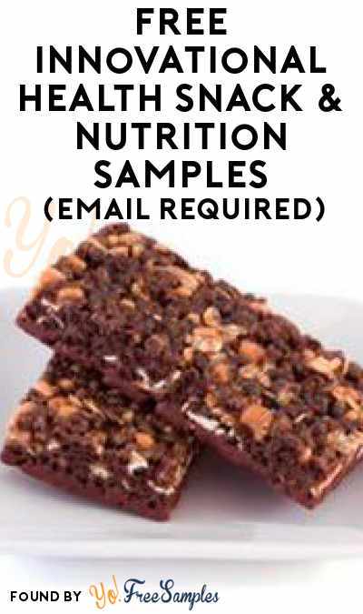 FREE Innovational Health Snack & Nutrition Samples (Email Required)