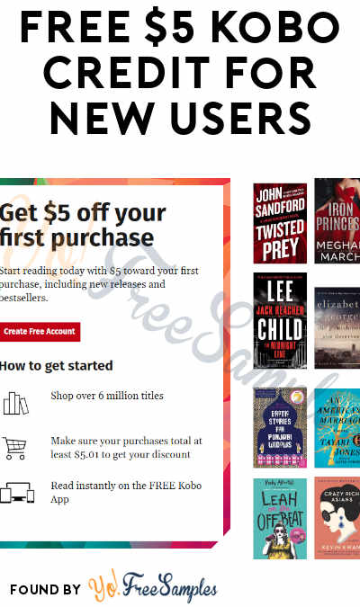 FREE $5 Kobo Credit For New Users