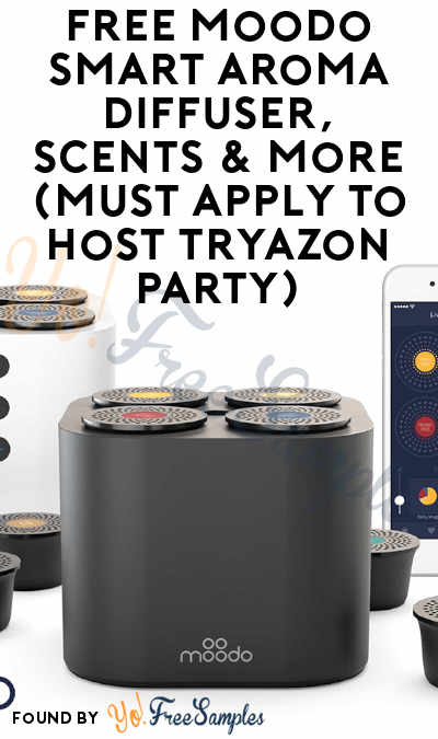 FREE Moodo Smart Aroma Diffuser, Scents & More (Must Apply To Host Tryazon Party)