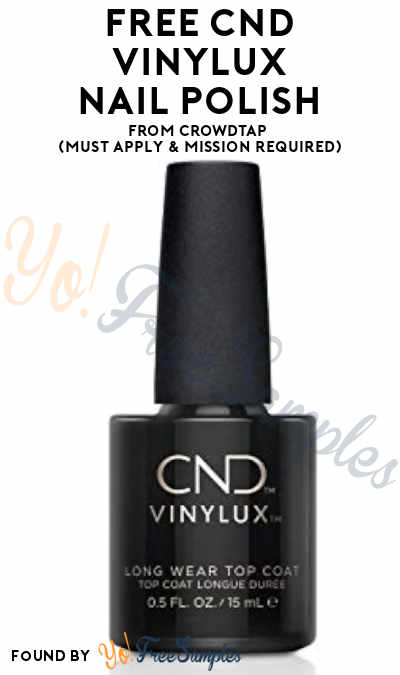 FREE CND Vinylux Long Wear Nail Polish From CrowdTap (Must Apply & Mission Required)
