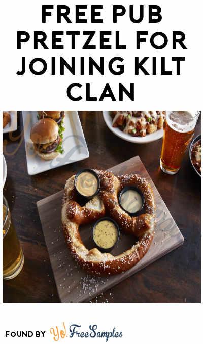 FREE Pub Pretzel For Joining Kilt Clan