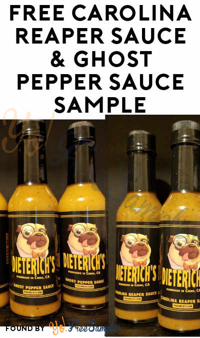 FREE Carolina Reaper Sauce & Ghost Pepper Sauce Sample