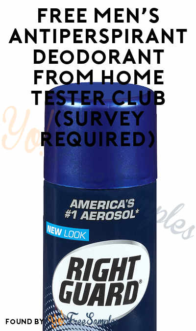 FREE Men's Antiperspirant Deodorant From Home Tester Club (Survey Required)