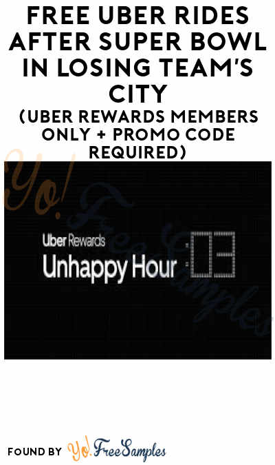 FREE Uber Rides After Super Bowl In Losing Team's City (Uber Rewards Members Only + Promo Code Required)