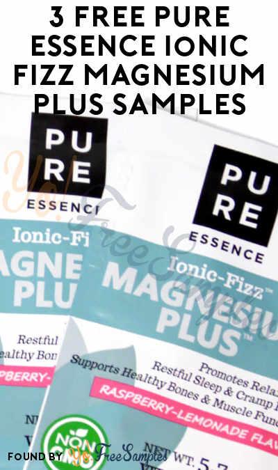3 FREE Pure Essence Ionic Fizz Magnesium Plus Samples