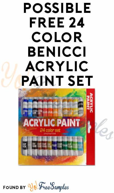 Possible FREE 24 Color Benicci Acrylic Paint Set