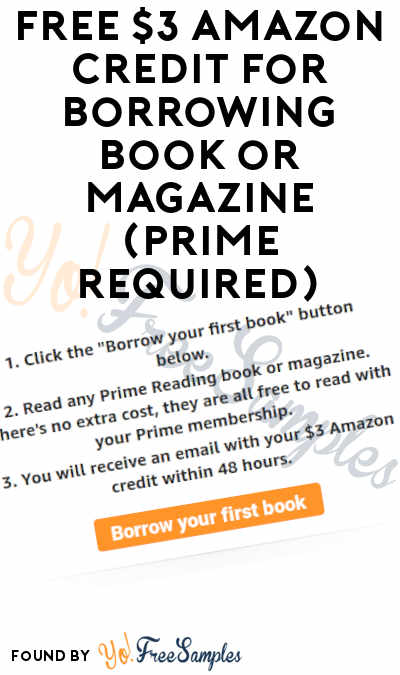 FREE $3 Amazon Credit For Borrowing Book or Magazine (Prime Required)